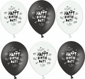 "Ballonnen ""Happy Birthday"" 30CM (6ST)"