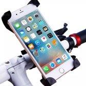 Telefoonhouder voor de fiets– Universeel – Schokbestendig – Mobiele telefoonhouder – Veilig – Verstelbaar – Universele smartphonehouder – Roterende telefoonhouder – Stevig – Universeel – Zwart