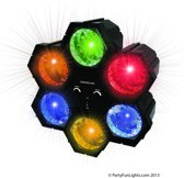 Discolamp Lichttoren met 6 led Lampen - Verschillende kleuren