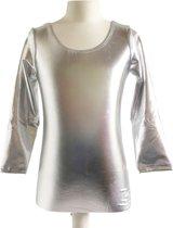 Ballet pakje zilver - met lange mouw - maat 12 - 122-128