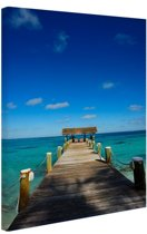 FotoCadeau.nl - Steiger op de Bahamas Canvas 20x30 cm - Foto print op Canvas schilderij (Wanddecoratie)