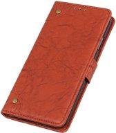 Mobigear Copper Buckle Retro Wallet Hoesje Bruin Xiaomi Mi 9