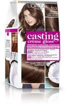 L'Oréal Paris Casting Crème Gloss Haarverf - 513 Licht Beigebruin