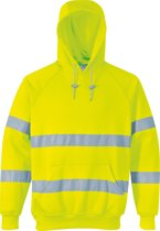 Portwest Hi-vis hooded sweatshirt, Geel, Maat XL