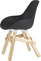 Kubikoff Icon stoel - Dimple closed zwart - Eikenhouten onderstel