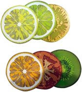 Invotis set van 6 onderzetters Fruit