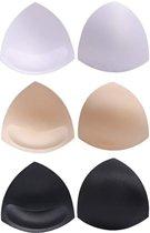 3 paar ( sport ) bh pads | bikini pads | badpak cup pad | beha bikini vulling | Medium