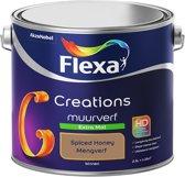 Flexa Creations - Muurverf Extra Mat - Spiced Honey - Kleur van het Jaar 2019- 2,5 Liter