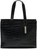 MYOMY My Paper Bag Handtas - Croco Black