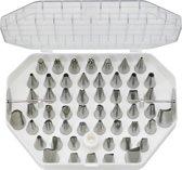 STERNSTEIGER Set van verschillende verschillende nozzles + koppeling voor decoratie 52 st.    INOX