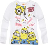 Minions-T-shirt-met-lange-mouw-wit - Maat 152