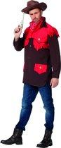 Cowboy & Cowgirl Kostuum | Cowboyhemd Red Devil Man | Maat 58 | Carnaval kostuum | Verkleedkleding