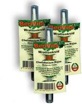 Anti-Wrat Wrattenkruid Pen met Stinkende Gouwe Kwastje - 3 stuks