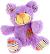 Toi-toys Pluche Knuffel Beer Paars