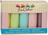 FunCakes Rolfondant Multipack Pastelkleuren 5x100g