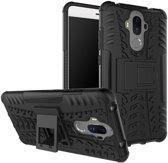 Huawei Mate 9 Hybrid Kickstand Hoesje Zwart