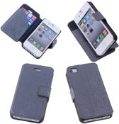 Grey Apple iPhone 4 4s Hoesjes Book/Wallet Case/Cover
