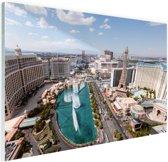 Stadsbeeld Las Vegas overdag Glas 90x60 cm - Foto print op Glas (Plexiglas wanddecoratie)