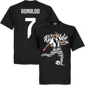 Ronaldo 7 Script T-Shirt - Zwart - XXXL
