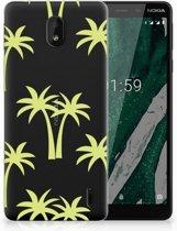 Nokia 1 Plus Uniek TPU Hoesje Palmtrees