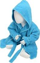 ARTG Babiezz® Baby Badjas met Capuchon Zeeblauw - Maat  68-74