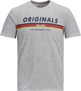 JACK&JONES JUNIOR Jongens T-shirt - Light Grey M - Maat 176