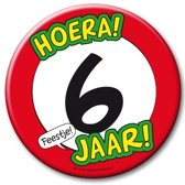 Paperdreams - XL Button - 6 jaar - Doorsnee 10 cm