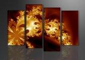 Art4-all - Canvas Schilderij Golden rain - 130x80cm