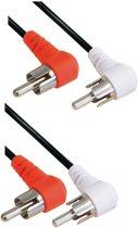 Transmedia Tulp stereo audio kabel - haaks - 1,2 meter