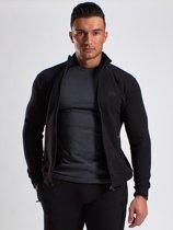 Stretch Trainingspak - Stretch Jacket Zwart - XXL