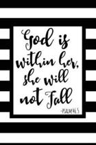 God is Within Her, She Will Not Fall Prayer Journal
