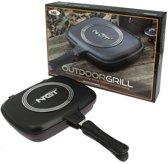 NGT Double Grill Pan - Campingpan - Anti-aanbak - Dubbelzijdig - Magnetisch