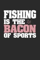Fishing Is The Bacon of Sports: Dot Grid Notebook Journal Gift (6 x 9 - 150 pages) - Journal dotted paper - For Bullet Journaling, Lettering, Field No