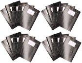 20x zwarte A4 ruitjes schriften 10 mm pakket - Notitieschriften - Schoolschriften