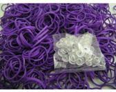 Weefstiekjes paars - 600 stuks + 24 clips