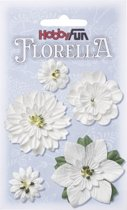 FLORELLA-Bloemen wit, 2-5cm