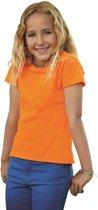 Oranje t-shirt voor meiden 116 (6 jaar)