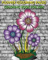 Flower Coloring Pages Coloring Book for Kids