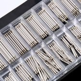 Horlogemakers Pinnetjes Set 8-25 mm - Horlogeband Inkortset - 180 Delig