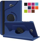 Xssive Tablet Hoes voor Samsung Galaxy Tab A 2016 10.1 inch T580 - Xssive Tablet Hoes - Case - Cover - 360° draaibaar - Donker Blauw