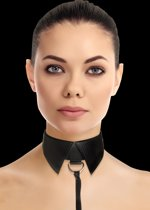 Classic Collar with Leash - Zwart