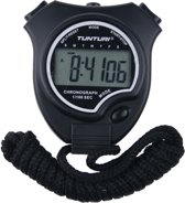 Tunturi Basis - Stopwatch - Digitale Stopwatch - Sport stopwatch - Grote Display - Zwart