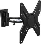 TecTake - Kantelbare en draaibare muurbeugel - Geschikt voor tv's van 14 t/m 37 inch - Zwart