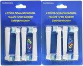 Universele Opzetborstels voor Oral-B  8 Opzetborstels Aanbieding
