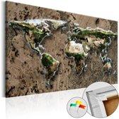 Afbeelding op kurk - Wild World , wereldkaart
