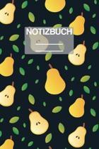 Notizbuch A5 Muster Birne: - 111 Seiten - EXTRA Kalender 2020 - Einzigartig - Liniert - Linie - Linien - Geschenk - Geschenkidee