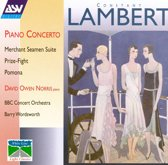 Lambert: Piano Concerto, etc / Norris, Wordsworth, et al