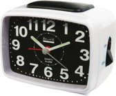 Quartz Alarm Clock Analogue White/Black