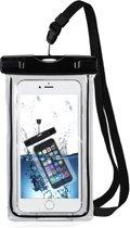 MMOBIEL Waterdichte Telefoon Hoes (ZWART) - Waterproof Bag - Case - Pouch - Universeel - Geschikt voor Alle Smartphones - tot 6 Inch - Volledig Transparant