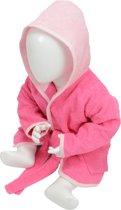 ARTG Babiezz® Baby Badjas met Capuchon Roze - Lichtroze  - Maat  80-92